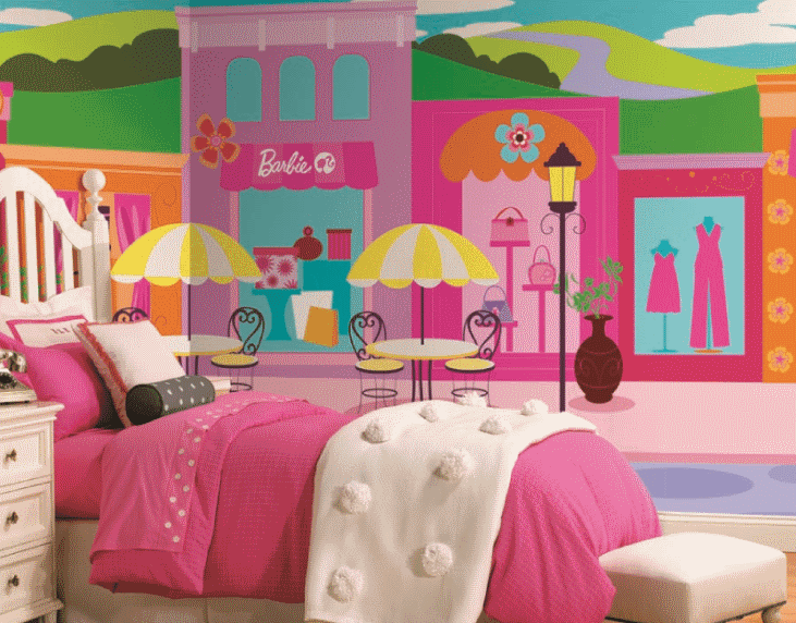 Barbie pictures and wallpapers february 2011 for Barbie wall mural