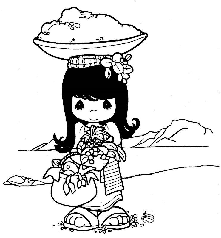 Thai princess coloring pages - Hellokids.com | 800x741