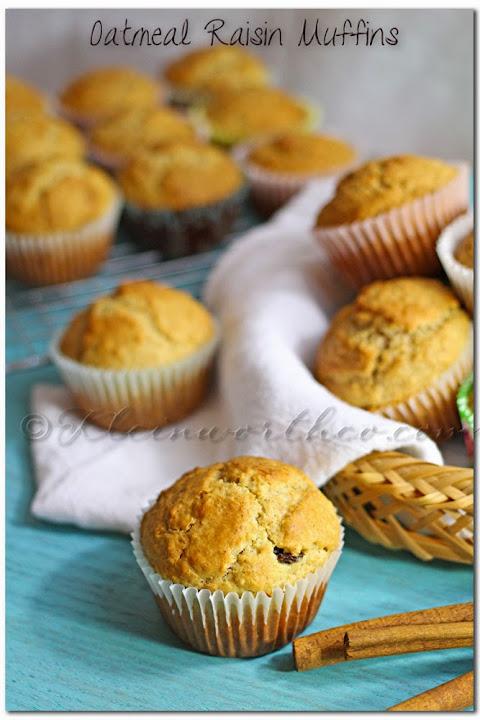 Oatmeal Raisin Muffins w/ #LACTAID