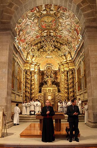 Reabertura da Igreja de São Pedro com a presença do Patriarca de Lisboa