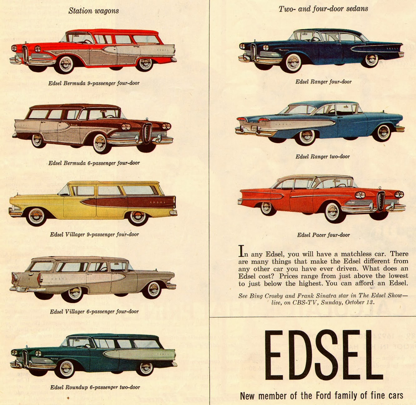 Edsel 1957 Car Models