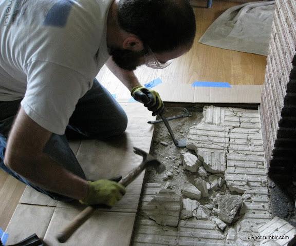 Surprising Diynot Tiling The Hearth Demolition Download Free Architecture Designs Terchretrmadebymaigaardcom