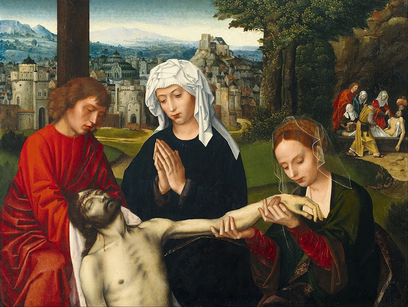Ambrosius Benson - Pietà at the Foot of the Cross - Google Art Project
