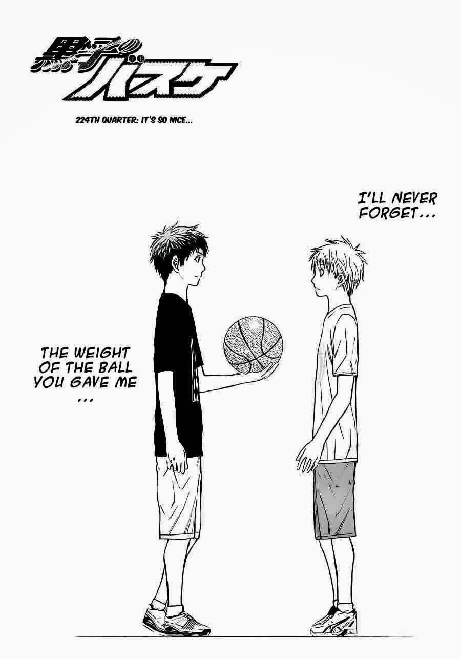 Kuroko no Basket Manga Chapter 224 - Image 01