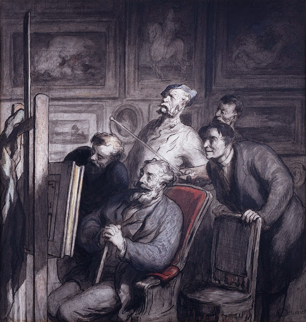 Honoré Daumier - The Amateurs