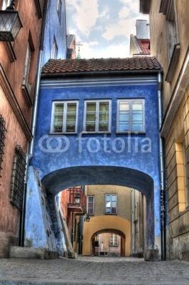 Fototapeta Stare miasto kolorowe domy w Warszawie