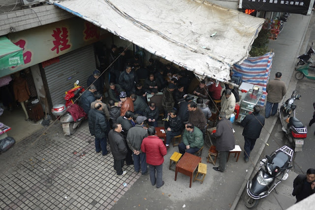 playing cards in Hengyang, Hunan province, China