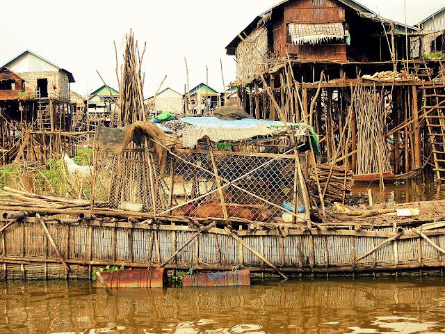 Floating pig pen, Kampong Phluk, Cambodia