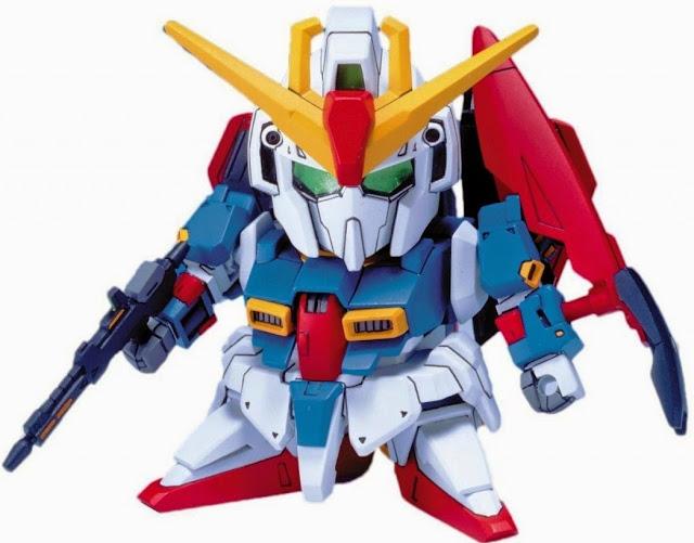 Bộ lắp ghép mô hình Zeta Gundam BB 198 SD ngộ nghĩnh, trang bị các loại vũ khí đẹp mắt