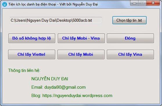 phần mềm sửa danh bạ điện thoại