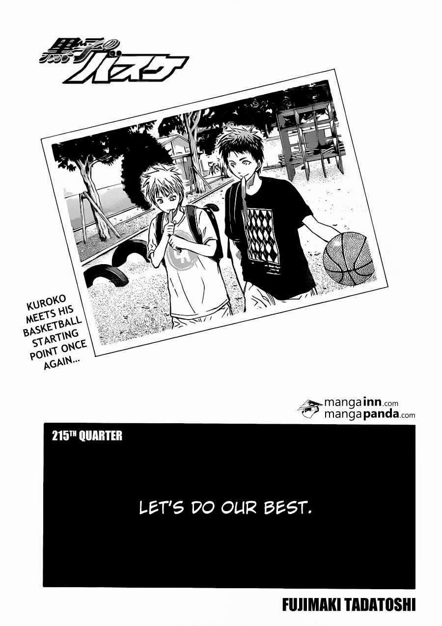Kuroko no Basket Manga Chapter 215 - Image 01
