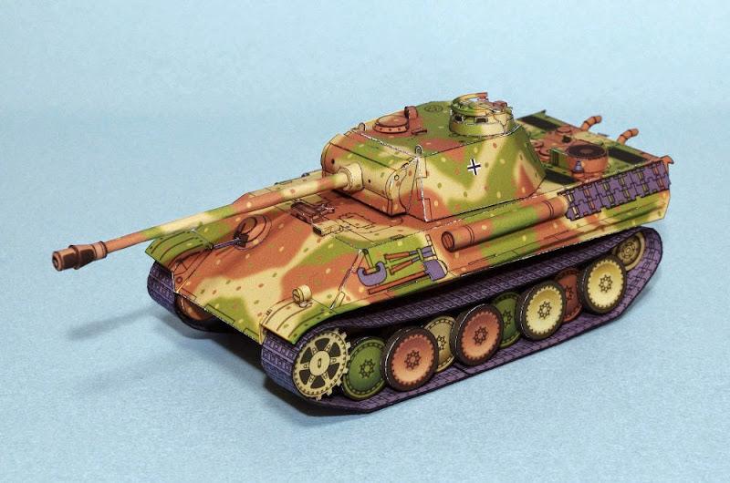 Panther Ausf G Papercraft Tank