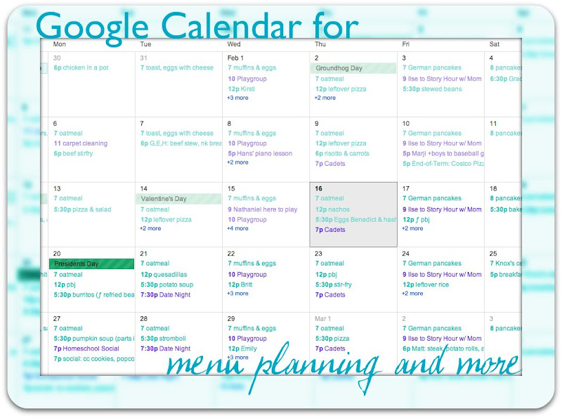 Google Calendar for Menu Planning | Simplified Organization