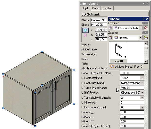 ElementsCAD - eigene Fronten gestalten