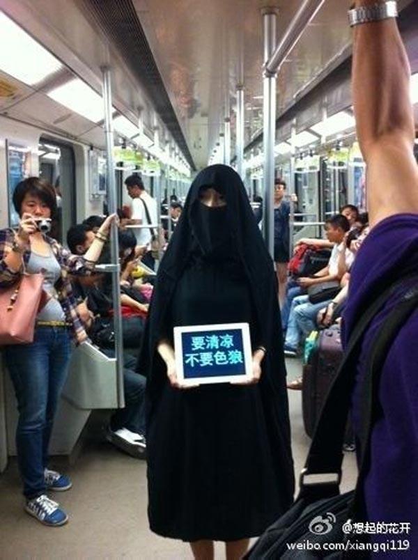 Pakai Hijab Dan Niqab Tanda Protes Gangguan Seksual Di Shanghai