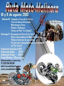 Cartel Ruta Moto-Molinera El Toboso 2013
