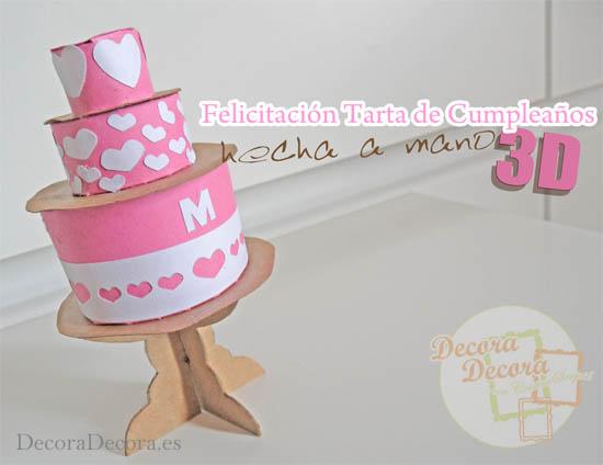 Felicitacion de cumpleaños 3D.
