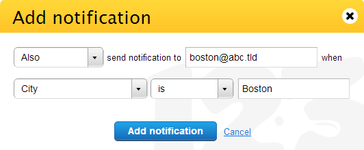123ContactForm send notifications to multiple email addresses