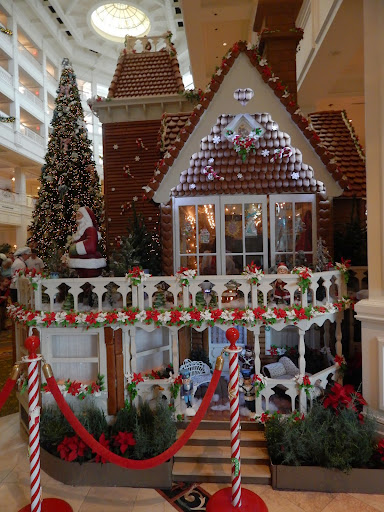 life-size gingerbread house at the Grand Floridian, Disney