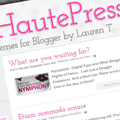 Haute Press Blogger Template