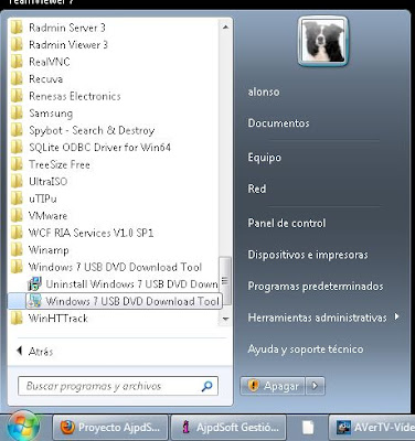 Meter Windows 7 para instalar en un pendrive lápiz de memoria USB con Windows 7 USB DVD Download Tool