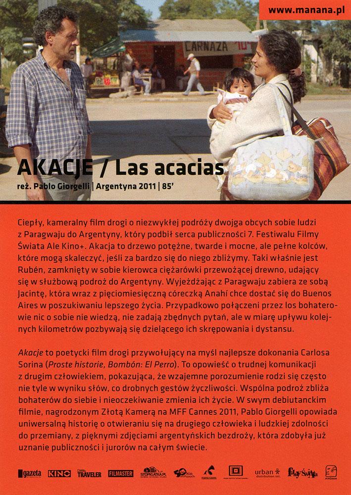 Ulotka filmu 'Akacje (tył)'