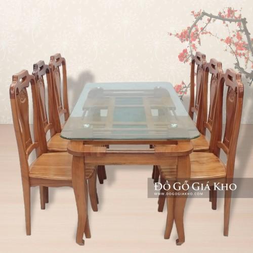 Bộ bàn ăn gỗ đinh hương - BA035
