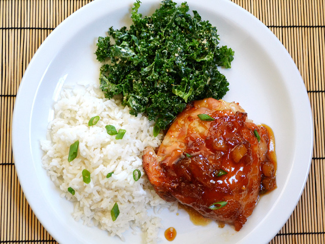 Pineapple Teriyaki Chicken Dinner