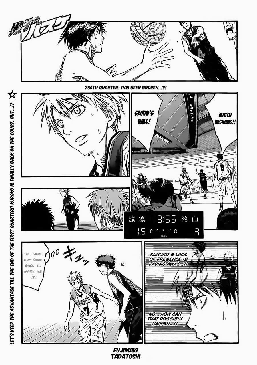 Kuroko no Basket Manga Chapter 236 - Image 01