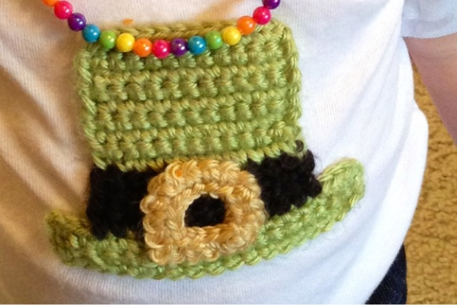 VSW: Leprechaun Hat Crochet Applique - Free Pattern