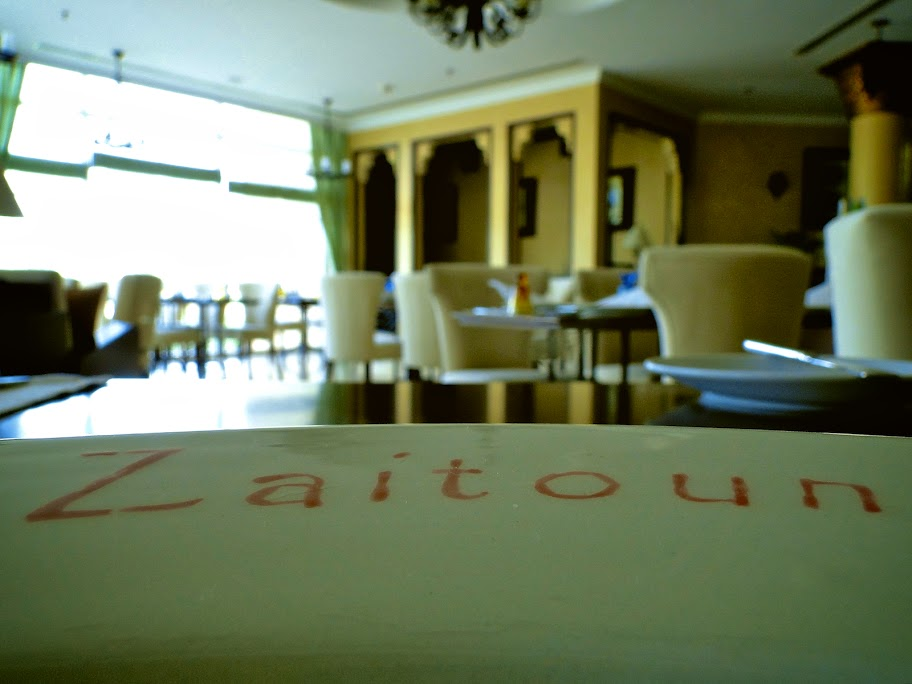 Zaitoun restaurant at Danat Jebel Dhanna Beach Resort