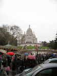 There's Sacre Coeur atop the Montmartre hill