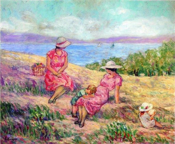 Henri Lebasque - At the Mediterranean Coast
