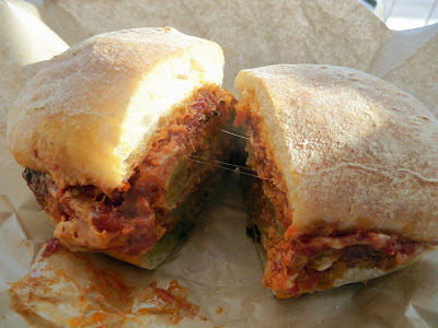 Eggplant Parm, Lardo west, bringing the fat back, Portland restaurant, sandwich restaurant