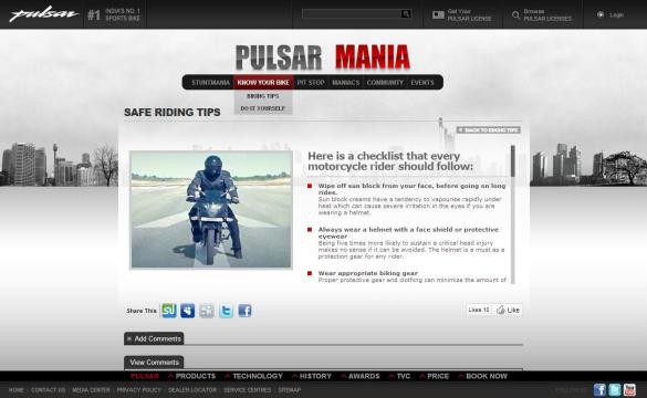 Pulsar Biking Tips