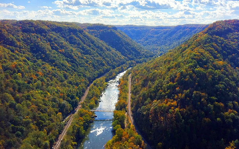 DOI/VISTA project site, New River Gorge, located near Fayetteville, West Virginia.