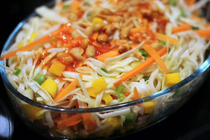 Asiatisk inspireret nudelsalat