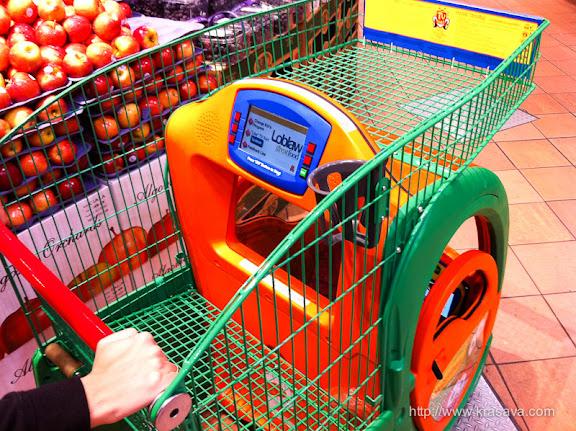 Мультимедийная тележка для продуктов