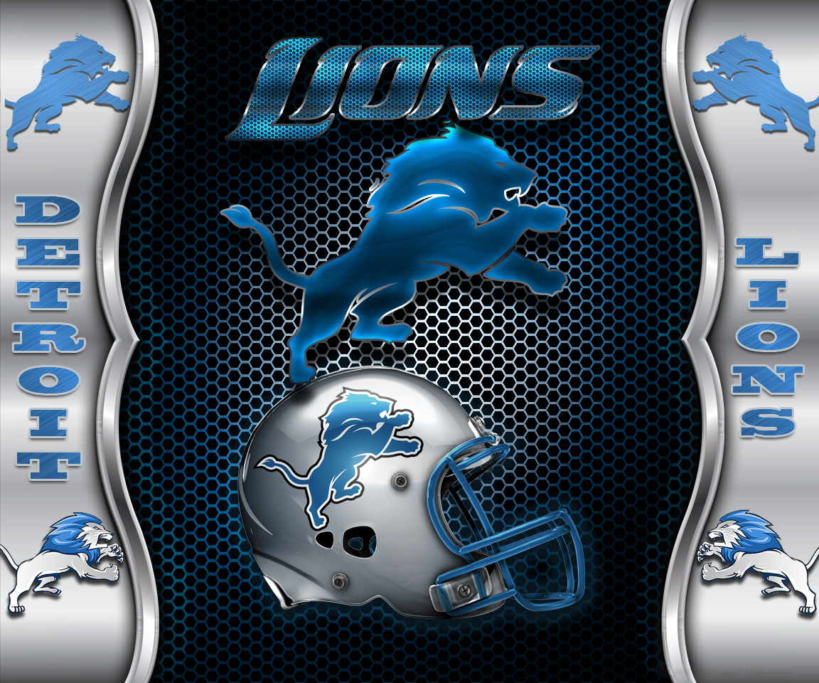 Detroit Lions Heavy Metal Android Wallpaper