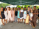 And here's Lora standing with most of the girls from the DTS graduation. It's a big deal for everyone so they dressed up very nicely.
