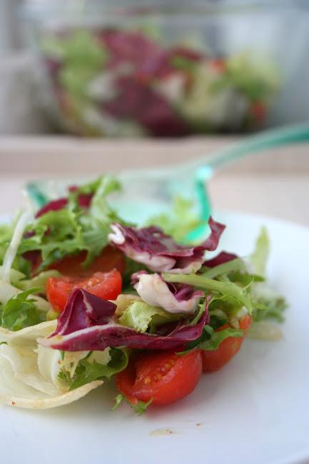 Sałatka z kruchych sałat