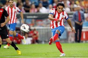 Atlético Madrid vence al Rayo Vallecano y Falcao García sigue su racha Goleadora