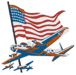 American Bomber Embroidery