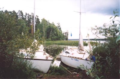 яхты на воде