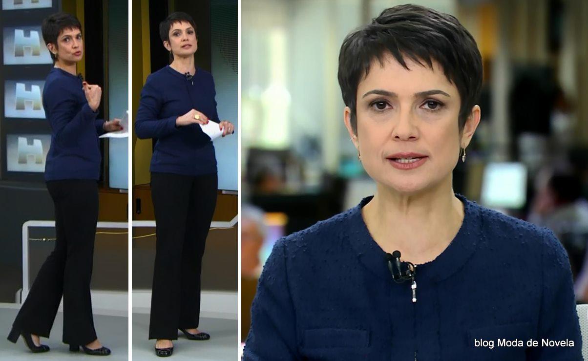 moda do programa Jornal Hoje - look da Sandra Annenberg dia 4 de junho