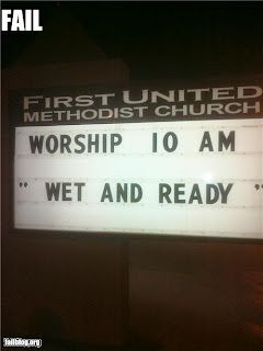 wrong kind of church, wet and ready