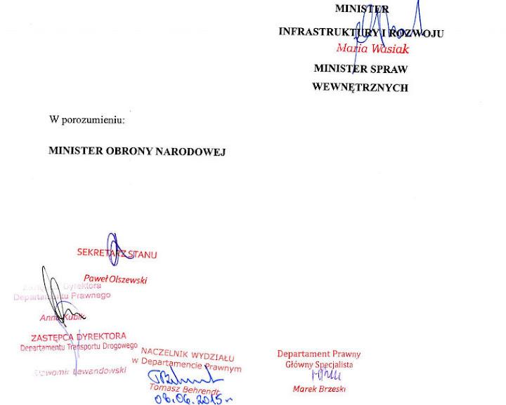 Przepisy zostały opublikowane 7 września 2015, weszły w życie 8 października 2015.