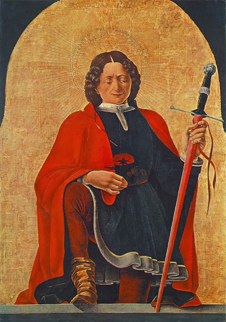 Francesco del Cossa - Griffoni Polyptych Saint Florian
