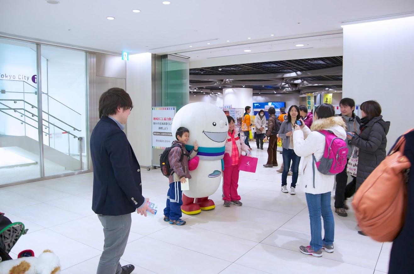 北海道新幹線マスコットキャラクター「どこでもユキちゃん」
