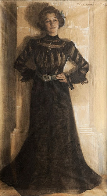 Peder Severin Krøyer - Portrait of the artist´s wife- Marie Kröyer - Google Art Project.